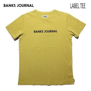 BANKS,バンクス/19SP/ S/S Tシャツ・半袖Tシャツ/LABEL TEE・ATS0332/OLD YELLOW・イエロー/メンズ/オーガニックコットン/ロゴTEE|selfishsurf