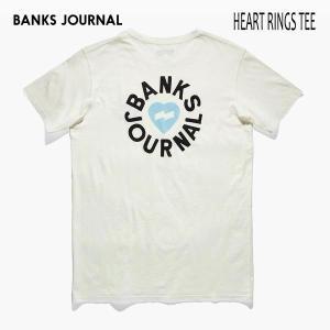 BANKS,バンクス/19SP/ S/S Tシャツ・半袖Tシャツ/HEART RINGS TEE-SHIRT・ATS0335/OFF WHITE・オフホワイト/メンズ/オーガニックコットン/ハートロゴ|selfishsurf