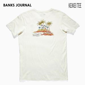 BANKS,バンクス/19SP/ S/S Tシャツ・半袖Tシャツ/KEIKEI TEE-SHIRT・ATS0336/OFF WHITE・オフホワイト/メンズ/オーガニックコットン/アートTEE/サーフ|selfishsurf