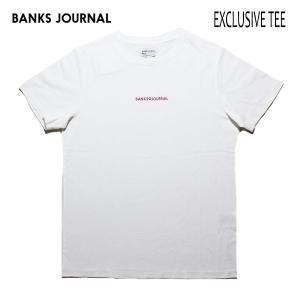 BANKS,バンクス/19SP/ S/S Tシャツ・半袖Tシャツ/EXCLUSIVE TEE SHIRT・ATS0339/OFF WHITE・オフホワイト/メンズ/オーガニックコットン/ロゴTEE|selfishsurf