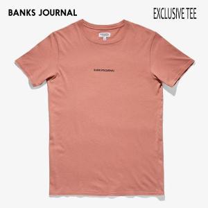 BANKS,バンクス/19SP/ S/S Tシャツ・半袖Tシャツ/EXCLUSIVE TEE SHIRT・ATS0339/OLD ROSE・オールドローズ/メンズ/オーガニックコットン/ロゴTEE|selfishsurf