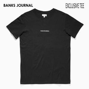 BANKS,バンクス/19SP/ S/S Tシャツ・半袖Tシャツ/EXCLUSIVE TEE SHIRT・ATS0339/DIRTY BLACK・ブラック/メンズ/オーガニックコットン/ロゴTEE|selfishsurf