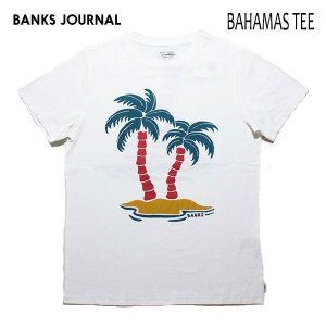 BANKS,バンクス/19SP/ S/S Tシャツ・半袖Tシャツ/BAHAMAS TEE-SHIRT・ATS0342/OFF WHITE・オフホワイト/メンズ/オーガニックコットン/アートTEE/サーフ|selfishsurf