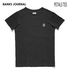 BANKS,バンクス/19SP/ S/S Tシャツ・半袖Tシャツ/PETALS TEE-SHIRT・ATS0346/DIRTY BLACK・ブラック/メンズ/オーガニックコットン|selfishsurf