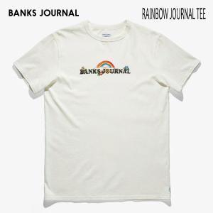 BANKS,バンクス/19SP/ S/S Tシャツ・半袖Tシャツ/RAINBOW TEE-SHIRT・ATS0363/OFF WHITE・オフホワイト/メンズ/オーガニックコットン/レインボー|selfishsurf