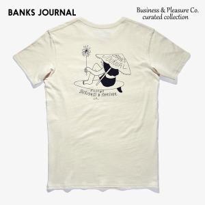 BANKS,バンクス/19SP/半袖ポケットTシャツ/Business & Pleasure Co TEE-SHIRT・WTS0359/オフホワイト/メンズ/オーガニックコットン/アートTEE/サーフ|selfishsurf
