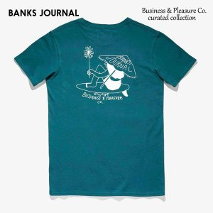 BANKS,バンクス/19SP/半袖ポケットTシャツ/Business & Pleasure Co TEE-SHIRT・WTS0359/スレート/メンズ/オーガニックコットン/アートTEE/サーフ|selfishsurf