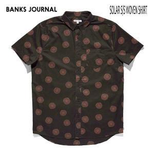 BANKS,バンクス/19SP/ S/S シャツ・半袖シャツ/SOLAR S/S WOVEN SHIRT・ASS0084/DIRTY BLACK・ブラック/Mサイズ/メンズ/総柄|selfishsurf