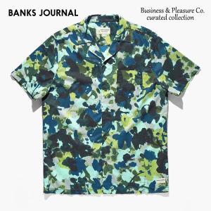 BANKS,バンクス/19SP/半袖シャツ/Business & Pleasure Co Camo Woven SHIRT・WSS0087/COMBAT/メンズ/コットンシャツ/カモ柄/サーフ|selfishsurf