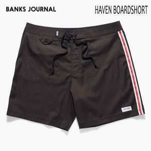 BANKS,バンクス/19SP/水陸両用・ボードショーツ・サーフトランクス/HAVEN BOARDSHORT・BS0172/DIRTY BLACK・ブラック/無地/シンプル/2wayストレッチ/メンズ|selfishsurf
