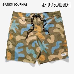 BANKS,バンクス/19SP/水陸両用・ボードショーツ・サーフトランクス/VENTURA BOARDSHORT・BS0173/COMBAT・カーキ/総柄/2wayストレッチ/メンズ|selfishsurf