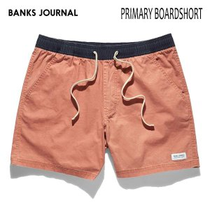 BANKS,バンクス/19SP/ボードショーツ・サーフトランクス/PRIMARY BOARDSHORT・BS0175/OLD ROSE・ローズ/28・30・32インチ/メンズ/無地/シンプル/ELASTIC|selfishsurf