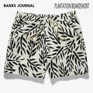 BANKS,バンクス/19SP/ボードショーツ・サーフトランクス/PLANTATION BOARDSHORT・BS0179/OFF WHITE・オフホワイト/28・30・32インチ/メンズ/総柄/ELASTIC|selfishsurf