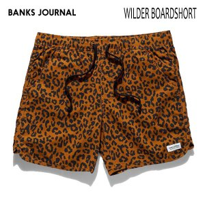 BANKS,バンクス/19SP/ボードショーツ・サーフトランクス/WILDER BOARDSHORT・BS0180/CAMEL・ブラウン/28・30・32インチ/メンズ/総柄/ヒョウ柄/ELASTIC|selfishsurf