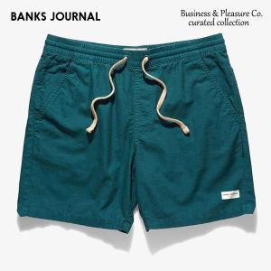 BANKS,バンクス/19SP/ショーツ・ハーフパンツ/Business & Pleasure Co Walkshort・WS0110/SLATE・スレート/メンズ/コットンリネン|selfishsurf