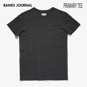 BANKS,バンクス/19SU/ S/S Tシャツ・半袖ポケットTシャツ/PRIMARY TEE-SHIRT・ATS0367/DIRTY BLACK・ブラック/メンズ/オーガニックコットン/無地/シンプル|selfishsurf