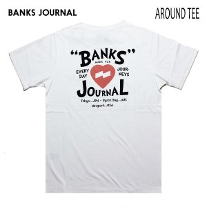 BANKS,バンクス/19SU/ S/S Tシャツ・半袖Tシャツ/AROUND TEE-SHIRT・ATS0371/OFF WHITE・オフホワイト/メンズ/オーガニックコットン/ハートロゴ|selfishsurf