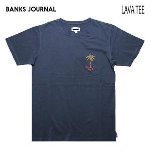 BANKS,バンクス/19SU/ S/S Tシャツ・半袖Tシャツ/PALM DREAMS TEE-SHIRT・ATS0380/DIRTY DENIM・ネイビー/メンズ/オーガニックコットン/パームツリー|selfishsurf