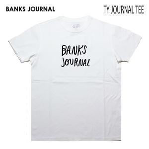 BANKS,バンクス/19SU/ S/S Tシャツ・半袖Tシャツ/TY JOURNAL TEE-SHIRT・ATS0382/OFF WHITE・オフホワイト/メンズ/オーガニックコットン/ロゴ|selfishsurf
