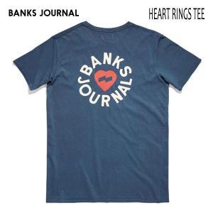BANKS,バンクス/19SU/ S/S Tシャツ・半袖Tシャツ/HEART RINGS TEE-SHIRT・ATS0335/INSIGNIA・ブルー/メンズ/オーガニックコットン/ハートロゴ|selfishsurf