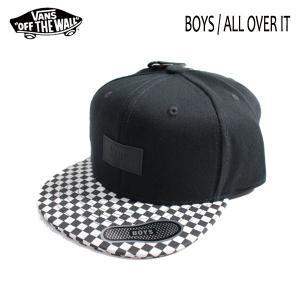 VANS,バンズ/19SU/BOYS・子供用/帽子・キャップ・スナップバック CAP/ALLOVER IT/BLACK/CHECKER/チェッカー柄 selfishsurf