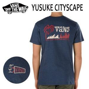 VANS,バンズ/17SU/ S/STee,半袖Tシャツ/YUSUKE CITYSCAPE Tee・CUSTOM FITライン/HEATHER NAVY・ヘザーネイビー/S・Mサイズ selfishsurf