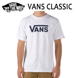 VANS,バンズ/2017年SPRING/ S/STee,半袖Tシャツ/VANS CLASSIC Tee・CLASSIC FITライン/WHITE/BLACK・ホワイト×ブラック/Mサイズ selfishsurf