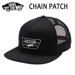VANS,バンズ/海外限定モデル/メッシュCAP/CHAIN PATCH TRUCKER/BLACK・ブラック selfishsurf