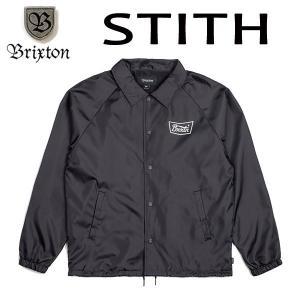 BRIXTON・ブリクストン/17FA/ナイロンジャケット・コーチジャケット/STITH WINDBREAKER JACKET/BLACK/WHITE・ブラック×ホワイト/S・Mサイズ/STANDARD FIT selfishsurf