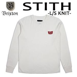 BRIXTON,ブリクストン/17FA/ L/S tee,長袖サーマルTシャツ/STITH L/S KNIT/OFF WHITE・オフホワイト/(USサイズ)S・Mサイズ selfishsurf
