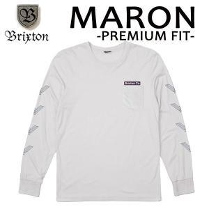 BRIXTON,ブリクストン/17FA/ L/S tee,長袖Tシャツ/MARON L/S TEE・Premium Fit/STONE・ライトグレー/(USサイズ)S・Mサイズ selfishsurf
