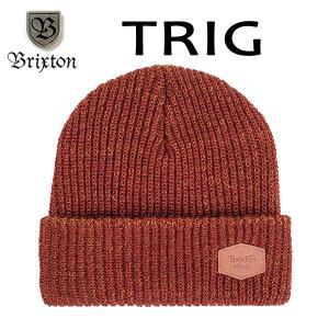 BRIXTON,ブリクストン/17FA/ニット帽・ニットキャップ/TRIG BEANIE/フリーサイズ/BURGUNDY/COPPER・バーガンディー×コッパー selfishsurf
