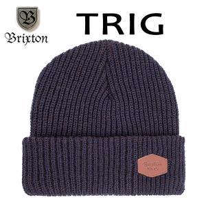 BRIXTON,ブリクストン/17FA/ニット帽・ニットキャップ/TRIG BEANIE/フリーサイズ/NAVY/BROWN・ネイビー×ブラウン selfishsurf