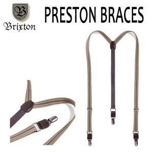 BRIXTON、ブリクストン/17FA/サスペンダー・ベルト/PRESTON BRACES/GREY/GOLD・グレー×ゴールド/フリーサイズ selfishsurf