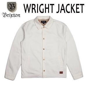 BRIXTON・ブリクストン/17FA/コーチジャケット/WRIGHT JACKET/OFF WHITE・オフホワイト/S・Mサイズ/STANDARD FIT selfishsurf
