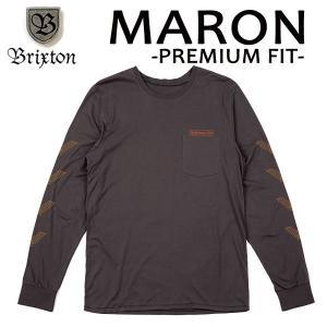 BRIXTON,ブリクストン/17FA/ L/S tee,長袖Tシャツ/MARON L/S TEE・Premium Fit/WASHED BLACK・ウォッシュブラック/(USサイズ)S・Mサイズ selfishsurf