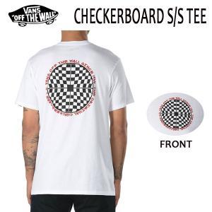 VANS,バンズ/18SP/ S/STee,半袖Tシャツ/CHECKERBOARD T-SHIRT・CUSTOM FITライン/WHITE・ホワイト/S・Mサイズ|selfishsurf