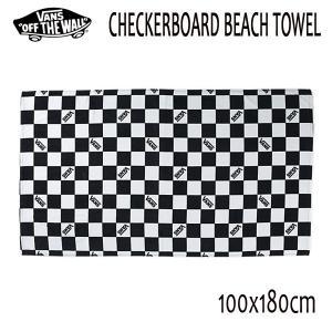 VANS,バンズ/18SP/ビーチタオル/CHECKERBOARD BEACH TOWEL/BLACK WHITE CHECK・チェッカーボード/|selfishsurf