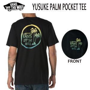 VANS,バンズ/18SP/ S/STee,半袖Tシャツ/YUSUKE PALM POCKET T-SHIRT・CUSTOM FITライン/BLACK・ブラック/S・Mサイズ|selfishsurf