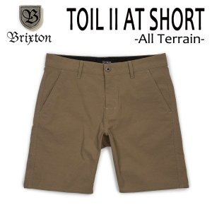 BRIXTON,ブリクストン/水陸両用/ボードショーツ・サーフトランクス・ショーツ/TOIL II ALL-TERRAIN SHORT/DARK KHAKI・カーキ/メンズ/撥水/ストレッチ|selfishsurf