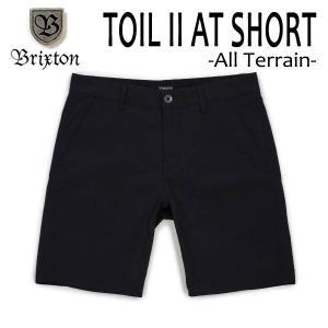 BRIXTON,ブリクストン/水陸両用/ボードショーツ・サーフトランクス・ショーツ/TOIL II ALL-TERRAIN SHORT/BLACK・ブラック/メンズ/撥水/ストレッチ|selfishsurf