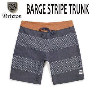 BRIXTON,ブリクストン/19SP/ボードショーツ・サーフトランクス・水着/BARGE STRIPE TRUNK/NAVY/OFF WHITE・ネイビー×オフホワイト/メンズ/ボーダー|selfishsurf