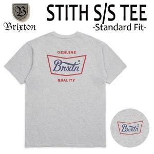 BRIXTON,ブリクストン/19SP/ S/Stee,半袖Tシャツ/STITH・Standard Fit/HEATHER GREY/RED/BLUE・ヘザーグレー/(USサイズ)S・Mサイズ/メンズ/ロゴ|selfishsurf