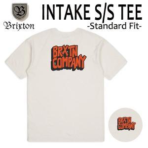 BRIXTON,ブリクストン/19SP/ S/Stee,半袖Tシャツ/INTAKE・Standard Fit/OFF WHITE・オフホワイト/(USサイズ)S・Mサイズ/メンズ/ロゴ|selfishsurf