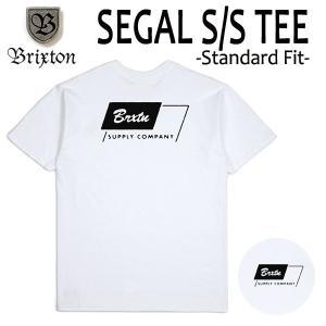 BRIXTON,ブリクストン/19SP/ S/Stee,半袖Tシャツ/SEGAL・Standard Fit/WHITE・ホワイト/(USサイズ)S・Mサイズ/メンズ/ロゴ|selfishsurf