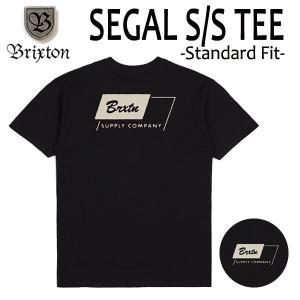 BRIXTON,ブリクストン/19SP/ S/Stee,半袖Tシャツ/SEGAL・Standard Fit/BLACK・ブラック/(USサイズ)S・Mサイズ/メンズ/ロゴ|selfishsurf