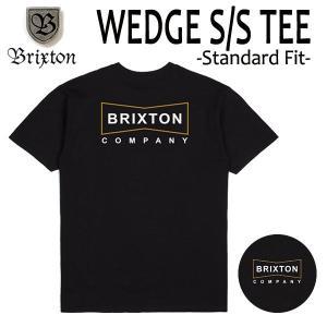 BRIXTON,ブリクストン/19SP/ S/Stee,半袖Tシャツ/WEDGE・Standard Fit/BLACK・ブラック/(USサイズ)S・Mサイズ/メンズ/ロゴ|selfishsurf