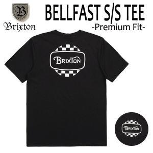 BRIXTON,ブリクストン/19SP/ S/Stee,半袖Tシャツ/BELLFAST・Premium Fit/BLACK・ブラック/(USサイズ)S・Mサイズ/メンズ/ロゴ|selfishsurf