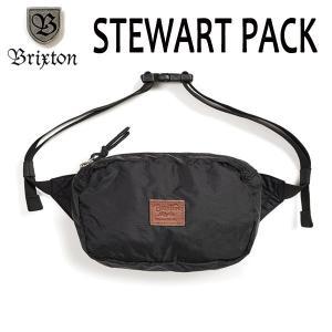 BRIXTON,ブリクストン/19SP/ヒップパック・ショルダーパック/STEWART HIP PACK/BLACK・ブラック/無地/ユニセックス/ポーチ|selfishsurf