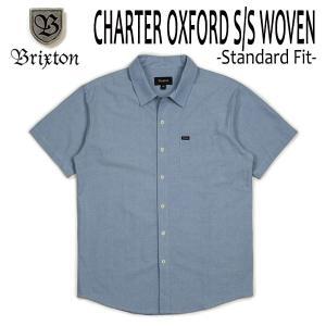 BRIXTON・ブリクストン/19SP/半袖シャツ,オックスフォードシャツ/CHARTER OXFORD S/S WOVEN/LIGHT BLUE CHAMBRAY・ライトブルーシャンブレー/S・Mサイズ/メンズ|selfishsurf